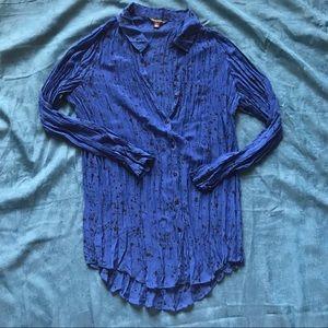 Rock and Republic Blue Splatter Shirt
